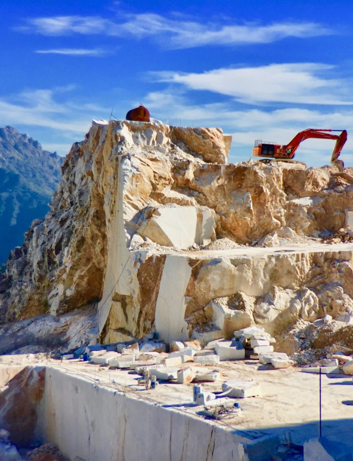 On A Mission To Find James Bond at Carrara Marble Site