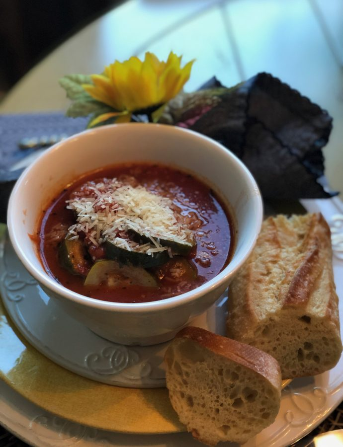 Tasty Tuesday – Sausage, Tomato & Zucchini Soup