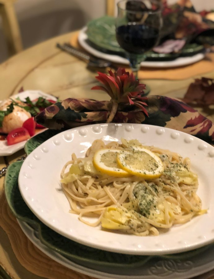 Tasty Tuesday — Lemon Artichoke Linguini