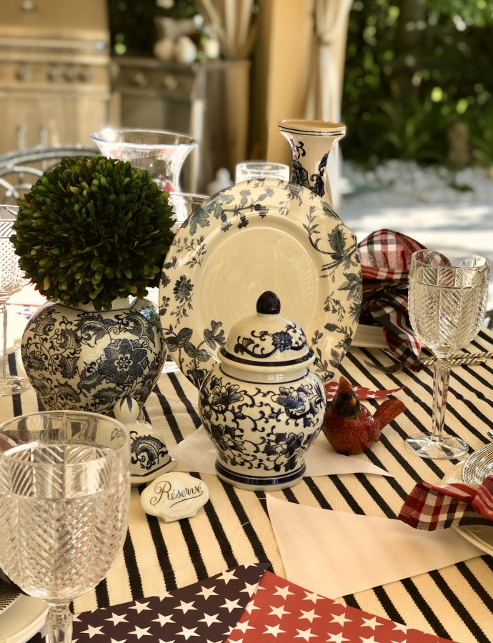 It's Table Top Tuesday – Featuring A Selection Of Wonderful Tablesettings Including Red, White & Blue