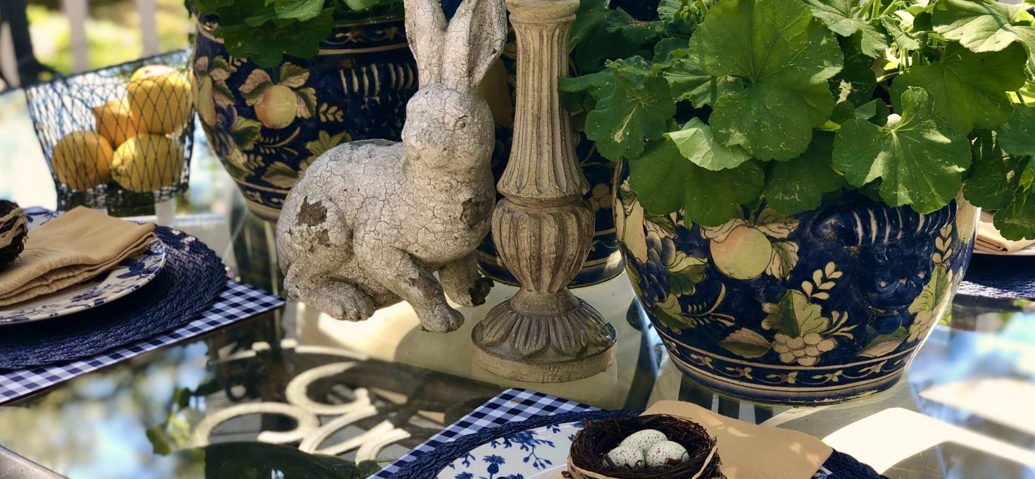 Easter Tablescape Overlooking The Marsh