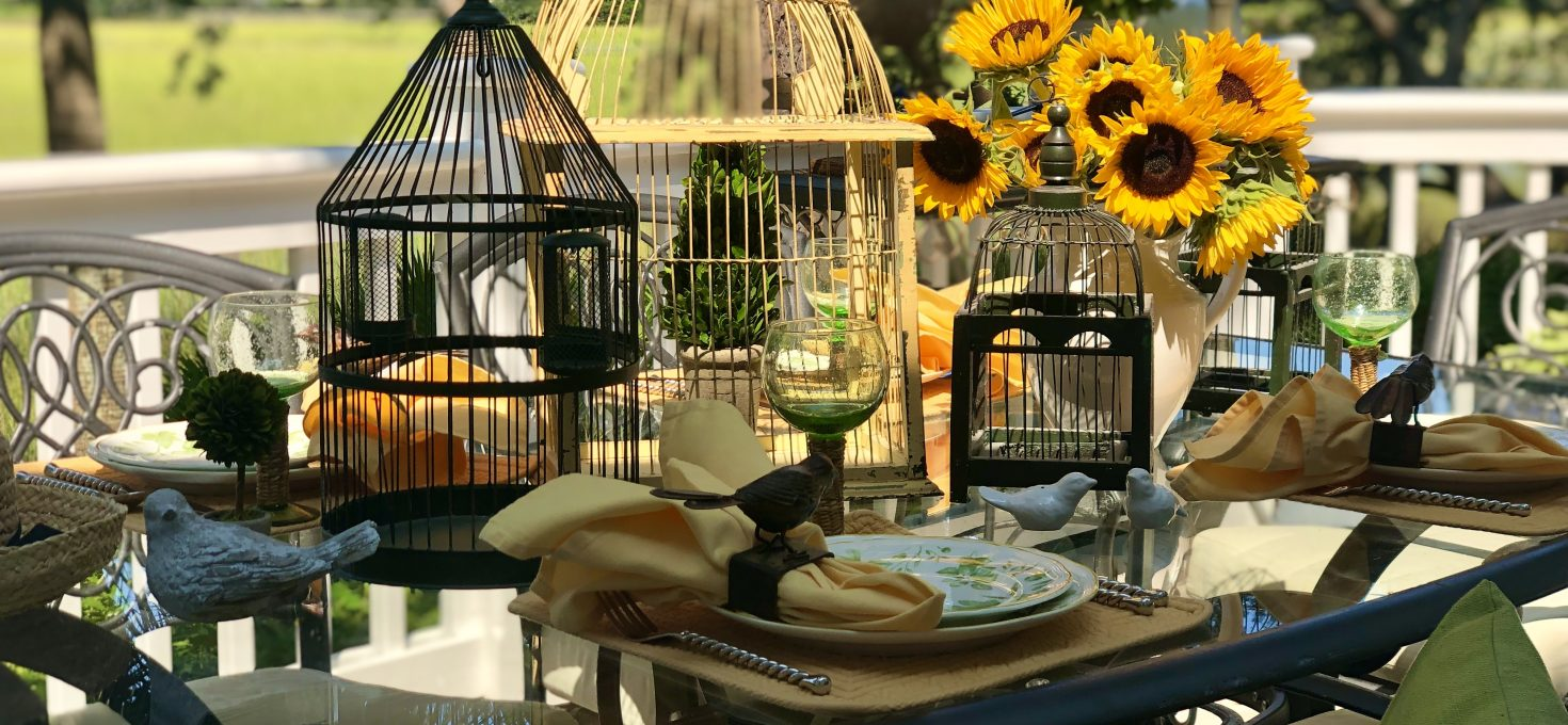 """Tablescapes On The Marsh – """"Falling"""" For Sunflowers And A Yummy Recipe"""